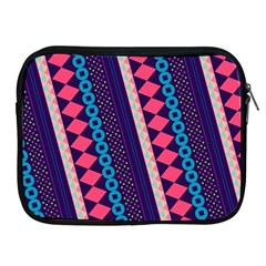 Purple And Pink Retro Geometric Pattern Apple Ipad 2/3/4 Zipper Cases