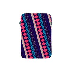 Purple And Pink Retro Geometric Pattern Apple Ipad Mini Protective Soft Cases
