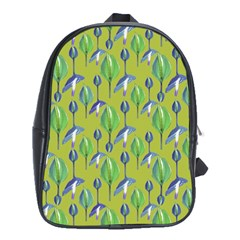 Tropical Floral Pattern School Bags (XL)