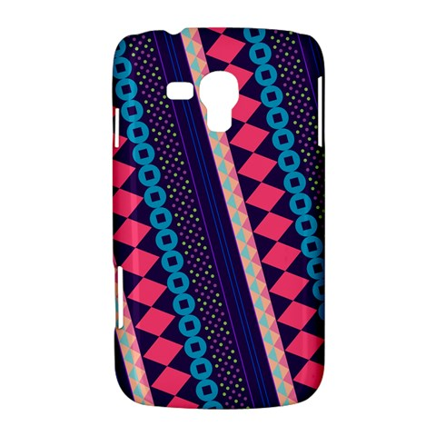 Purple And Pink Retro Geometric Pattern Samsung Galaxy Duos I8262 Hardshell Case