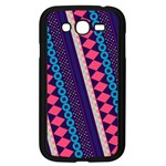 Purple And Pink Retro Geometric Pattern Samsung Galaxy Grand DUOS I9082 Case (Black) Front