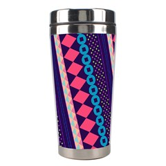 Purple And Pink Retro Geometric Pattern Stainless Steel Travel Tumblers