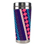 Purple And Pink Retro Geometric Pattern Stainless Steel Travel Tumblers Center