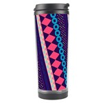 Purple And Pink Retro Geometric Pattern Travel Tumbler Left