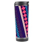 Purple And Pink Retro Geometric Pattern Travel Tumbler Center