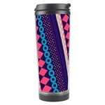 Purple And Pink Retro Geometric Pattern Travel Tumbler Right