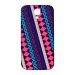 Purple And Pink Retro Geometric Pattern Samsung Galaxy S4 I9500/I9505  Hardshell Back Case Front