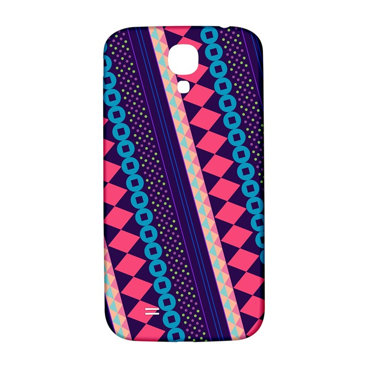 Purple And Pink Retro Geometric Pattern Samsung Galaxy S4 I9500/I9505  Hardshell Back Case