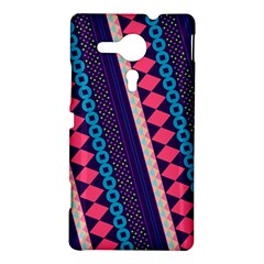 Purple And Pink Retro Geometric Pattern Sony Xperia SP