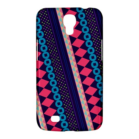 Purple And Pink Retro Geometric Pattern Samsung Galaxy Mega 6.3  I9200 Hardshell Case