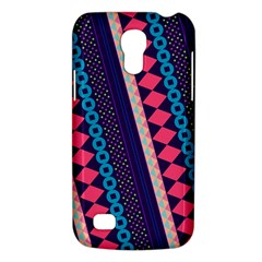 Purple And Pink Retro Geometric Pattern Galaxy S4 Mini