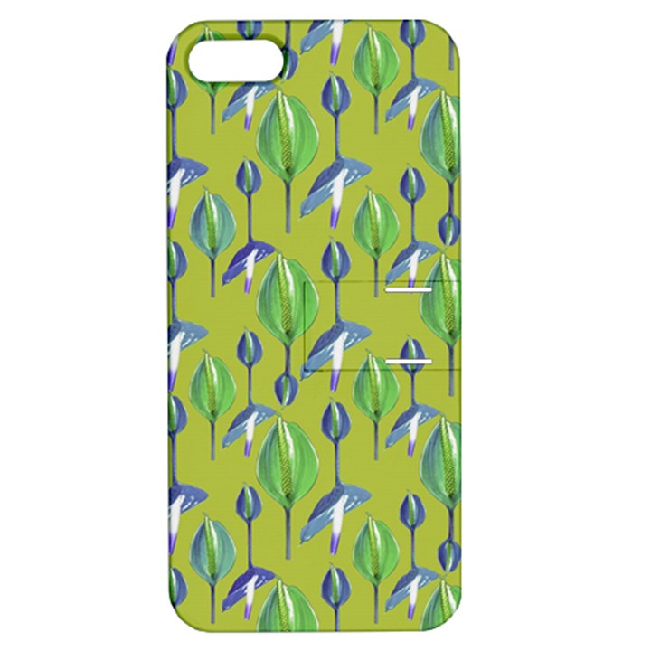 Tropical Floral Pattern Apple iPhone 5 Hardshell Case with Stand