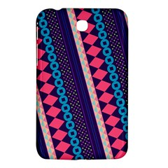 Purple And Pink Retro Geometric Pattern Samsung Galaxy Tab 3 (7 ) P3200 Hardshell Case