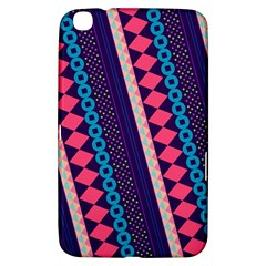Purple And Pink Retro Geometric Pattern Samsung Galaxy Tab 3 (8 ) T3100 Hardshell Case