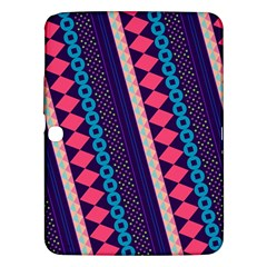 Purple And Pink Retro Geometric Pattern Samsung Galaxy Tab 3 (10.1 ) P5200 Hardshell Case