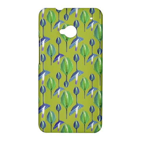 Tropical Floral Pattern HTC One M7 Hardshell Case
