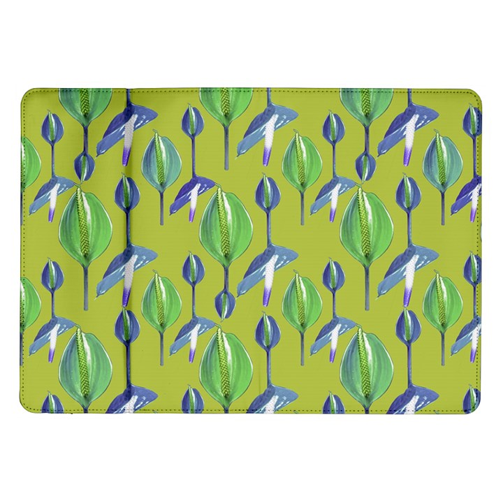 Tropical Floral Pattern Samsung Galaxy Tab 10.1  P7500 Flip Case
