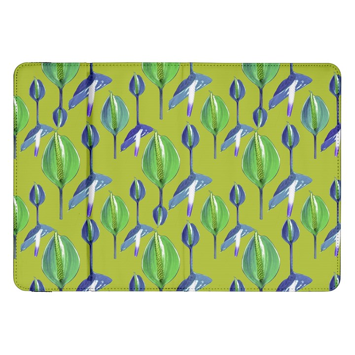 Tropical Floral Pattern Samsung Galaxy Tab 8.9  P7300 Flip Case