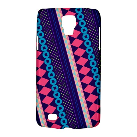Purple And Pink Retro Geometric Pattern Galaxy S4 Active