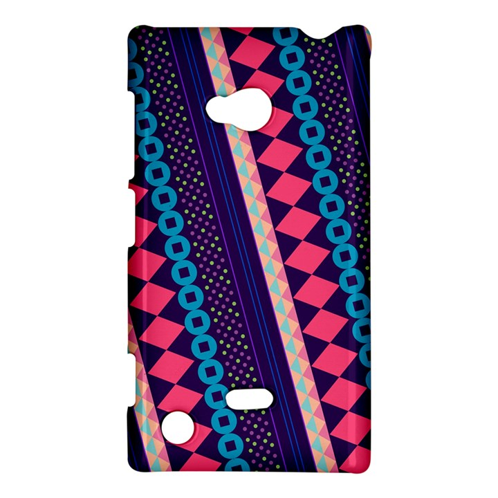 Purple And Pink Retro Geometric Pattern Nokia Lumia 720