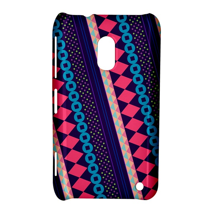 Purple And Pink Retro Geometric Pattern Nokia Lumia 620