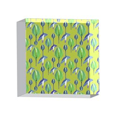 Tropical Floral Pattern 4 x 4  Acrylic Photo Blocks