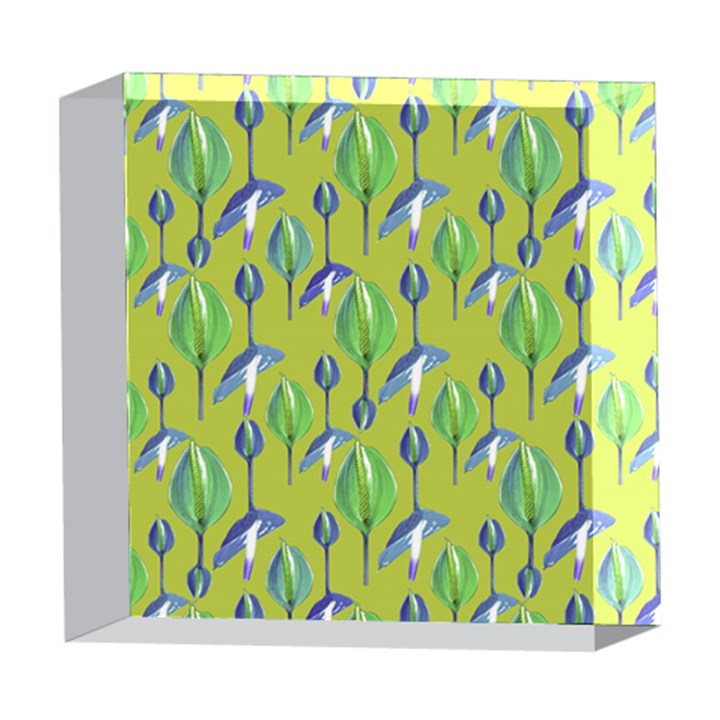 Tropical Floral Pattern 5  x 5  Acrylic Photo Blocks