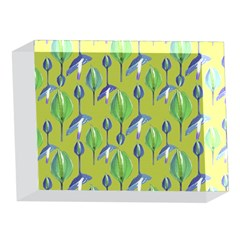 Tropical Floral Pattern 5 x 7  Acrylic Photo Blocks