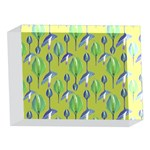 Tropical Floral Pattern 5 x 7  Acrylic Photo Blocks Front