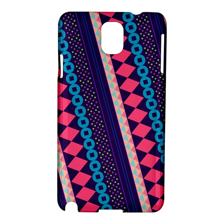 Purple And Pink Retro Geometric Pattern Samsung Galaxy Note 3 N9005 Hardshell Case