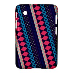 Purple And Pink Retro Geometric Pattern Samsung Galaxy Tab 2 (7 ) P3100 Hardshell Case