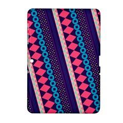 Purple And Pink Retro Geometric Pattern Samsung Galaxy Tab 2 (10 1 ) P5100 Hardshell Case