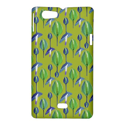 Tropical Floral Pattern Sony Xperia Miro