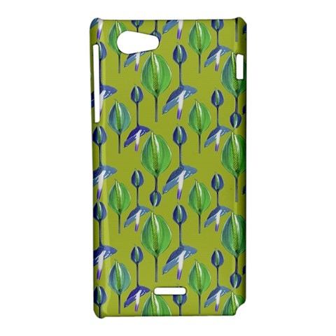 Tropical Floral Pattern Sony Xperia J