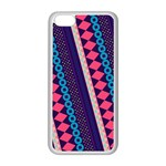 Purple And Pink Retro Geometric Pattern Apple iPhone 5C Seamless Case (White) Front