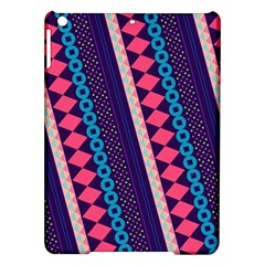 Purple And Pink Retro Geometric Pattern Ipad Air Hardshell Cases