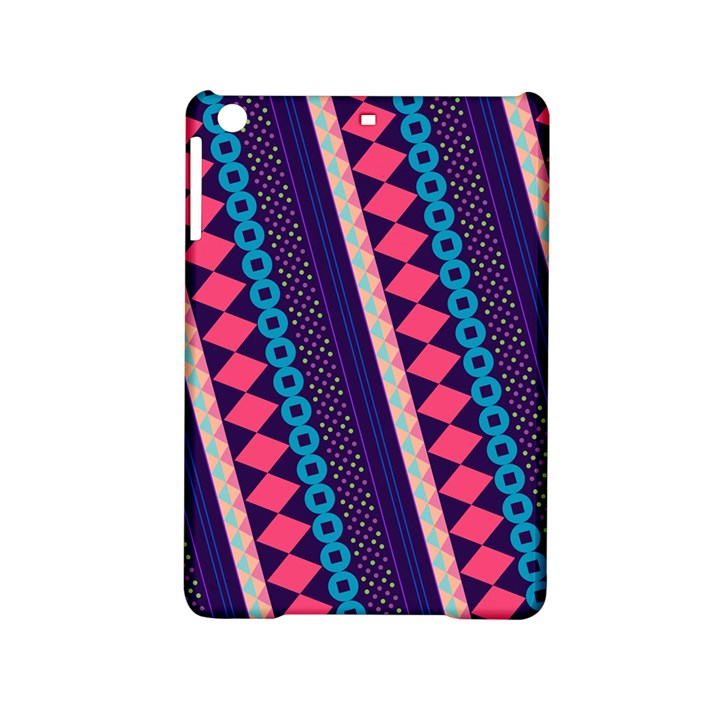 Purple And Pink Retro Geometric Pattern iPad Mini 2 Hardshell Cases