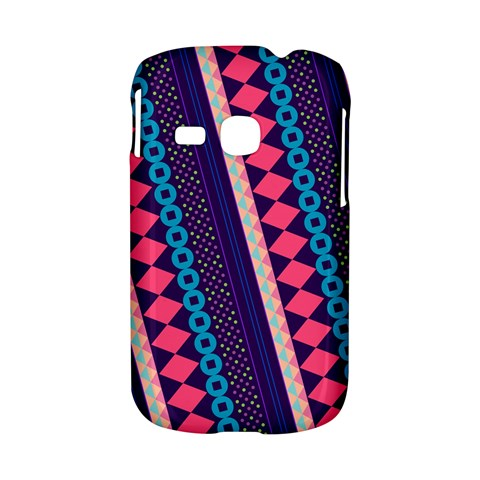 Purple And Pink Retro Geometric Pattern Samsung Galaxy S6310 Hardshell Case