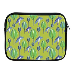 Tropical Floral Pattern Apple iPad 2/3/4 Zipper Cases