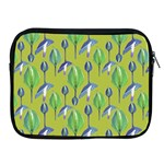 Tropical Floral Pattern Apple iPad 2/3/4 Zipper Cases Front
