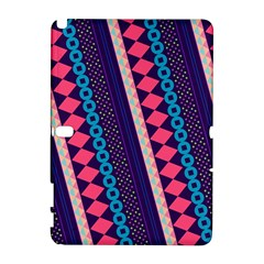 Purple And Pink Retro Geometric Pattern Samsung Galaxy Note 10.1 (P600) Hardshell Case