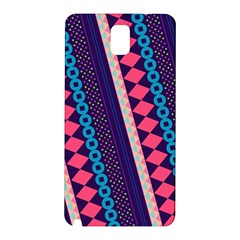 Purple And Pink Retro Geometric Pattern Samsung Galaxy Note 3 N9005 Hardshell Back Case