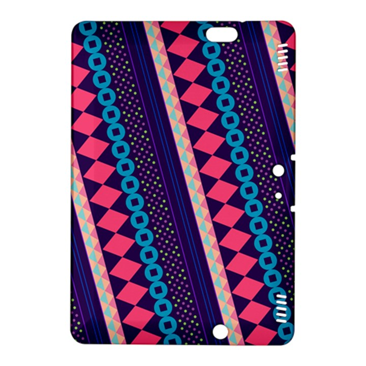 Purple And Pink Retro Geometric Pattern Kindle Fire HDX 8.9  Hardshell Case