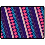 Purple And Pink Retro Geometric Pattern Double Sided Fleece Blanket (Large)  80 x60 Blanket Back