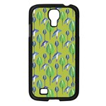 Tropical Floral Pattern Samsung Galaxy S4 I9500/ I9505 Case (Black) Front