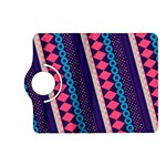 Purple And Pink Retro Geometric Pattern Kindle Fire HD (2013) Flip 360 Case Front