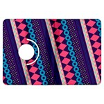 Purple And Pink Retro Geometric Pattern Kindle Fire HDX Flip 360 Case Front