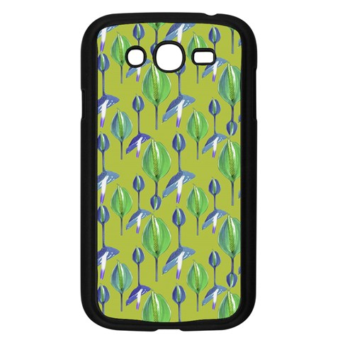 Tropical Floral Pattern Samsung Galaxy Grand DUOS I9082 Case (Black)