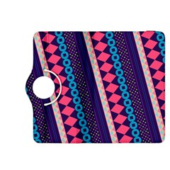 Purple And Pink Retro Geometric Pattern Kindle Fire Hdx 8 9  Flip 360 Case