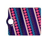 Purple And Pink Retro Geometric Pattern Kindle Fire HDX 8.9  Flip 360 Case Front